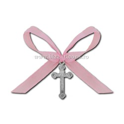 35-5R кресты на крещение - лента-розовый 50/мешок