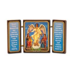 181-172 Triptic lemn 13x7,3 Sf Inger 11buc/cutie