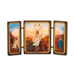 181-607 Triptic lemn 13x7,3 Invierea 11buc/cutie