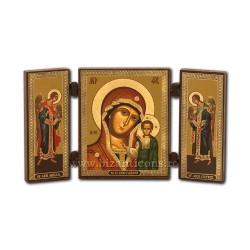181-906 Triptic lemn 13x7,3 MD Kazan - bizantin 11buc/cutie