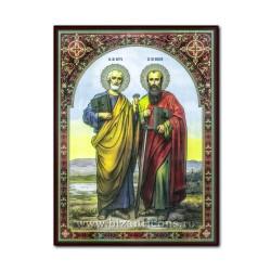 Icoana pe lemn - Sfintii Apostoli Petru si Pavel 30x40 cm