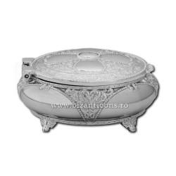 52-200Ag коробка-металл-круглые - серебристый 7,5x3,5 96/коробка