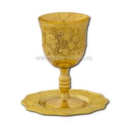 The 52-34Au cup wedding gold 12,5x7cm + plate 12x1cm 36/box