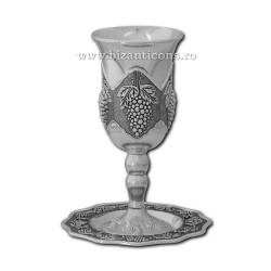 The 52-29AgP cup ceremony + dinner plate - silver + patina 48/box