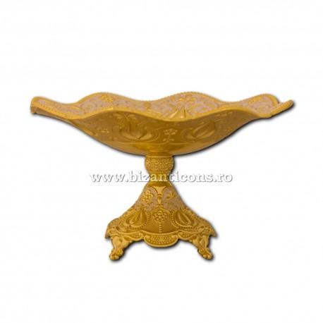 52-35 vas anafora - masa - auriu 35x20cm 12/bax