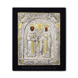 Icoana argintata 23x28 Sf Constantin si Elena K105Ag-011