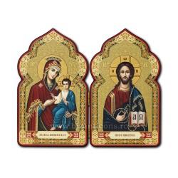 Diptic lemn 11x18 - MD cu Iisus D 185-465