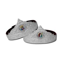 CUNUNII cu icoana - argintate - pietre K 911-13