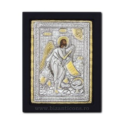 The icon with silvered 19x26 of St. John the Baptist K104Ag-121