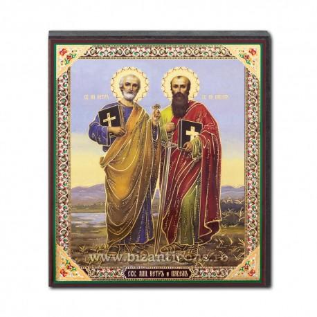 1852-723 Icoana ruseasca mdf 10x12 Sf Petru si Pavel