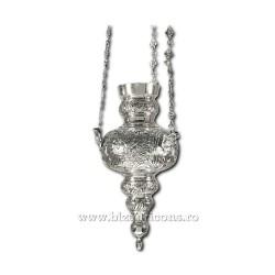 CANDELA lant vultur bicefal No7 - argintata cu patina K1006AgP
