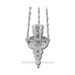 CANDELA lant vultur bicefal No2 - argintata cu patina K1005AgP