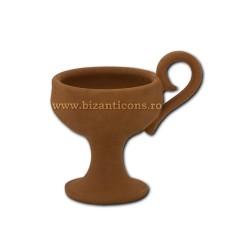 CATUIE ceramica fara capac mica 6,5x7cm D82-1 80/bax
