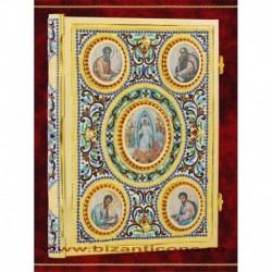 Evanghelie emailata, cu medalioane Evanghelisti