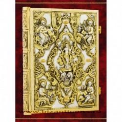 Evanghelie aurita si argintata, basorelief