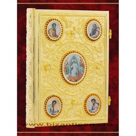 Evanghelie aurita, medalioane Evanghelisti.