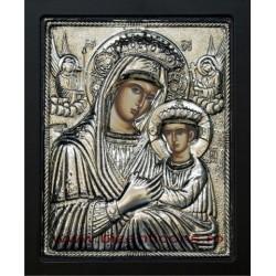 Icoana argintata - Maica Domnului Imparateasa - Anagheni 23x25 cm K105Ag-403