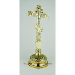 Cruce Binecuvantare Aurita si Argintata cu baza detasabila.