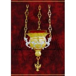 Candela cu lant - aurita si argintata