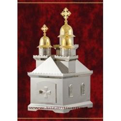 CHIVOT biserica 3 turle aurit si nichelat