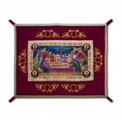 Epitaf Brodat textil - cu icoana printata Punerea in Mormant - GRENA