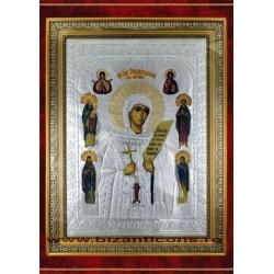 Icoana cu foita argintata - Sf Parascheva de la Iasi