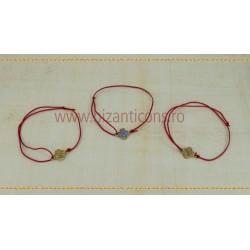 Metanie textila - Cruce Metal cu Pietre Zirconiu