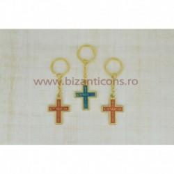 2-32 breloc metal - Cruce scris greceste 12/set