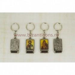 2-37 breloc metal - Icoana + Pamant 12/set