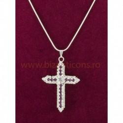 Colier cruce pietre dreptunghi