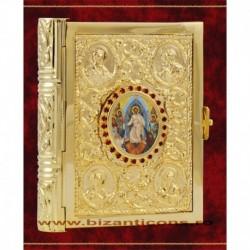Evanghelie aurita, medalion icoana - mica