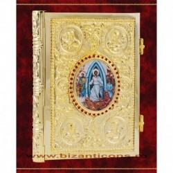 Evanghelie aurita, medalion icoana - medie