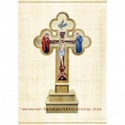 CRUCE altar lemn sculptat + suport 180 cm M125-21