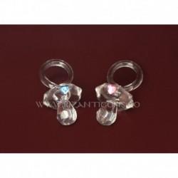 Ornament suzeta + inima - cristal