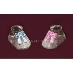 Ornament papuc + fundita - cristal