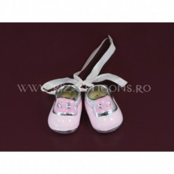 Ornament papuc + argintiu - ceramica (2 buc)