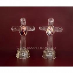 Cristal cruce mare + icoana - Diverse modele