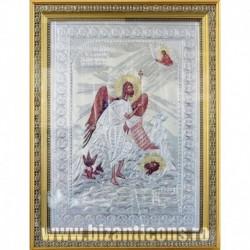 Icoana cu foita argintata - Sfantul Ioan Botezatorul