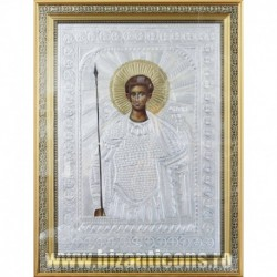 Icoana cu foita argintata - Sfantul Dimitrie