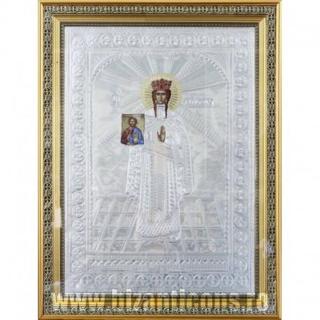 Icoana cu foita argintata - Sfanta Teodora