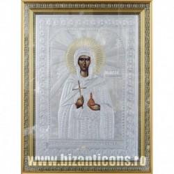 Icoana cu foita argintata - Sfanta Marta