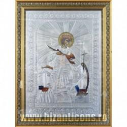 Icoana cu foita argintata - Sfanta Ecaterina