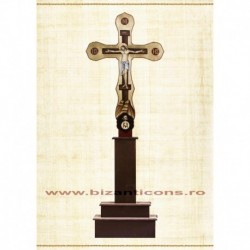 Cruce Altar Lemn Pictat ICXC + Suport