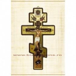 Cruce lemn perete