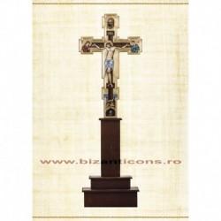 Cruce Altar Lemn Pictat + Suport