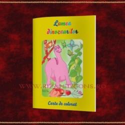 Lumea dinozaurilor carte de colorat