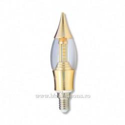 Bec lumanare LED E14 W3 - lumina galbena