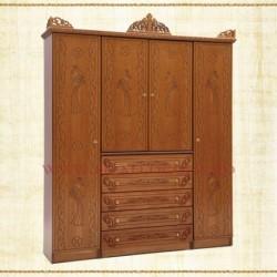 Dulap 5 sertare - 4 usi - lemn sculptat