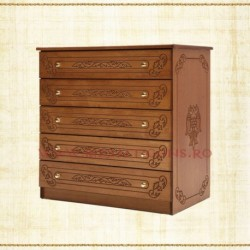 Dulap 5 sertare - lemn sculptat