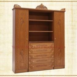 Vitrina 2 usi + 5 sertare - lemn sculptat